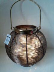 Bronze H.U. Scheulen Lantaarn ronde lantaarn van metaal van Scheulen 22x22x22 cm