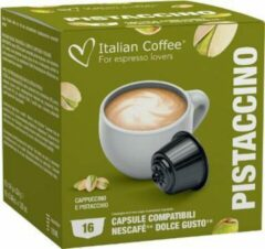 Italian Coffee - Pistaccino Koffie (Cappuccino en Pistache) - 16x stuks - Dolce Gusto compatibel