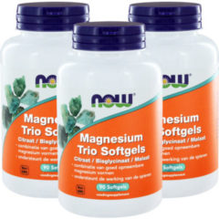 Now Foods Now Magnesium Trio Softgels Trio (3x 90sft)