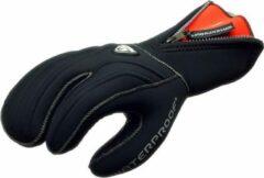 Zwarte Waterproof G1 3-vinger Duikwant Polar Evoluted 7mm