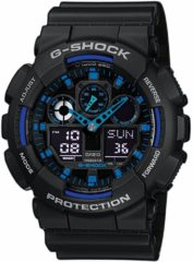 Zwarte Casio G-Shock GA-100-1A2ER - Horloge - Kunststof - Zwart - Ø 50 mm