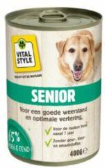 6x VITALstyle Hondenvoer Blik Senior 400 gr