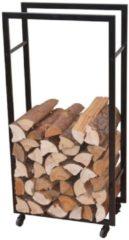 Möbel direkt online Moebel direkt online Kaminholzregal mit Rollen, Metallregal für Holz, Kamin-Holzständer