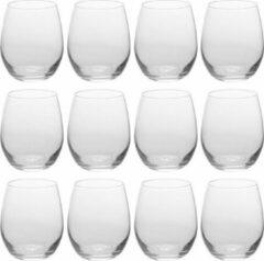 Transparante Bellatio Design 12x Luxe sapglazen/waterglazen van 390 ml - vaatwasserbestendig - verzwaarde glazen