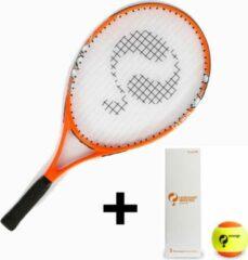 """Quick Tennisracket JR 23"""" - Stage 2 - Oranje - incl. 3 tennisballen"""