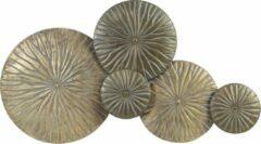 Cozy Ibiza- wanddecoratie-metaal- goud brons- 77 cm