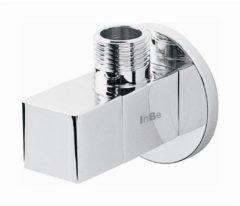 Clou InBe design hoekstopkraan type 6 vierkant chroom D6.3cm IB/06.45006