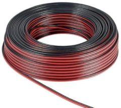 Rode Goobay Luidspreker kabel 2x 0,50 mm / rood/zwart (koper) - 50 meter