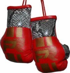 Rode Punch Round™ Punch Round Mini Carhanger Bokshandschoenen Snake Red Gold