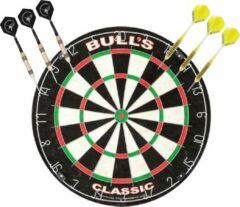 Merkloos / Sans marque Professioneel dartbord Bulls The Classic incl 2 sets dartpijlen 21 grams - Sportief spelen - Darten/darts - Dartborden voor kinderen en volwassenen.
