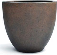 Bruine DBT - Plantenbak - Egg pot XL rusty iron-concrete - Zwart - Bruin - Winterhard - D 60 x H 54