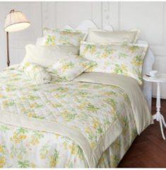 Laura Ashley Zusatzkissenbezug Spring Blossom Primrose Satin Laura Ashley hellgelb-lindgrün-weiß