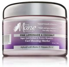 The Mane Choice Pink Lemonade & Coconut Super Anti-Oxidant & Texture Beautifier Curl Boosting Sherbet 355ml