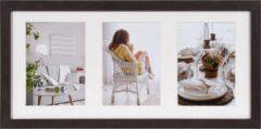Donkerbruine Henzo MODERN - Gallery Fotolijst - Fotoformaat 23 x 50 cm / 3 x 13 x 18 cm - Donker Bruin