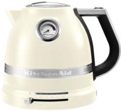 Creme witte KitchenAid Artisan waterkoker 1,5 liter 5KEK1522 - Amandelwit