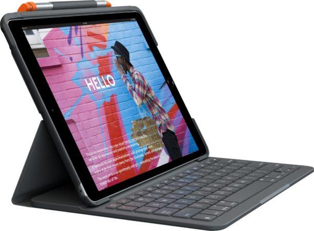 Afbeelding van Logitech Slim Folio toetsenbord voor mobiel apparaat QWERTY Brits Engels Grafiet Bluetooth