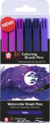 Sakura Koi Coloring Brush Pen set 6 - Galaxy