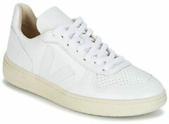Veja V-10 Leather Extra White heren sneakers wit