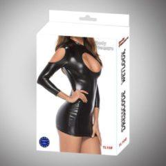 Zwarte Body Pleasure - Wetlook Lingerie - Tl108 - Sexy Dress - gaaf sexy jurkje - One size fits most - gave Cadeaubox - ideaal om te geven of te ontvangen