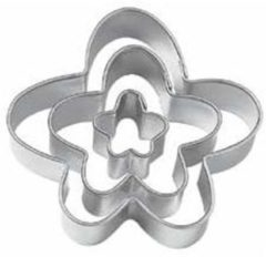 Zilveren Set van 3 bloem uitstekers - Wilton