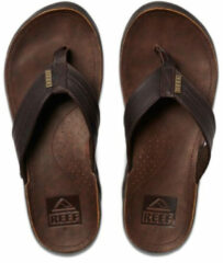 Donkerbruine Reef J-Bay III Heren Slippers - Dark Brown - Maat 45