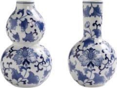 Delfts blauwe vaas - set van 2 - 20 cm - &klevering - vaasjes - bloemenvaas - blauwe vaas - vaasjes set - Holland souvenir- cadeau nieuw huis - kerstgeschenk - cadeau vrouw