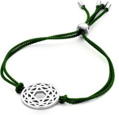 CO88 Collection Chakra 8CB 90211 Armband met Stalen Element - Heart Chakra Ø 20 mm - One-size - Groen