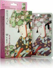 Witte Mitomo Japan Mitomo Aloe & Cherry Blossom Gezichtsmasker - Anti Aging Face Mask - Gezichtsverzorging Masker
