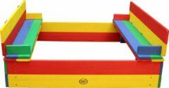 Rode AXI Ella Zandbak met bankjes Regenboog - FSC 100% Hout - 100 x 95 x 20 cm