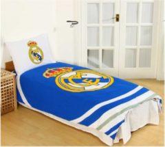 Blauwe Real Madrid CF Real Madrid eenpersoons dekbedovertrek - 1 kussensloop