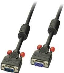 LINDY VGA Cable extension 2.00 m 36393 Black [1x VGA plug - 1x VGA socket]