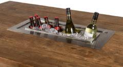 Grijze Happy Cocooning losse inbouw wijnkoeler rechthoek 69x32xH23,3 cm