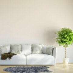 Relaxdays imitatie schapenvacht - vloerkleed - langharig - kleed - nep vacht - grijs 70x120cm