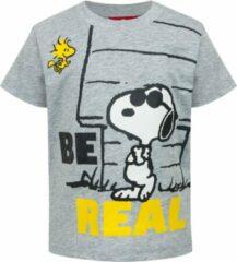 Grijze Snoopy Unisex T-shirt Maat 80