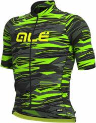 Alé - Rock Jersey Graphics - Fietsshirt maat L, zwart/olijfgroen/groen
