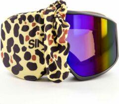 Zandkleurige SINNER Goggle Jacket Beschermhoes skibril - Panter - Unisex - One Size