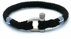 MR. JACOB Colin zwarte touw armband