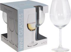 GeBoWeb Excellent Houseware Set van 4 witte wijnglazen 43cl
