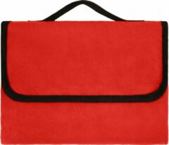 James & Nicholson Picknickkleed Fleece Rood 130x150cm