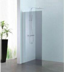 Royal Plaza Parri walk-in 120x200cm zilver profiel en grijs glas met clean coating 23787