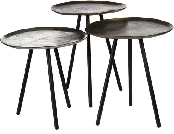 Afbeelding van Gouden Pols Potten Table Skippy - Bijzettafel - Set van 3