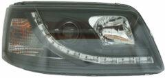 AutoStyle Set Koplampen incl. DRL passend voor Volkswagen T5 2003-2010 - Zwart - incl. Motor