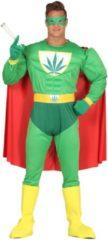 Generik Grappig cannabis superheld kostuum voor volwassenen - Volwassenen kostuums