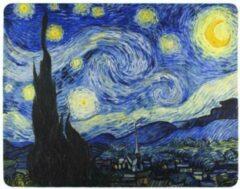 FineGoods Muismat van gogh - starry night - sterrennacht - muismatten - 18 x 22 cm - mouse pad - mousepad - geel - blauw