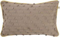 Bruine Dutch Decor Kussenhoes Molta 30x50 Cm Taupe