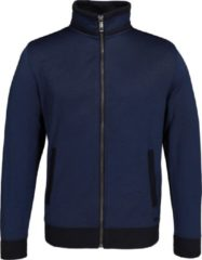 Casa Moda vest katoenmelange - blauw melange (met rits) - Maat L