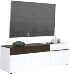 Antraciet-grijze Ameubelment Tv-meubel Karat 180 cm breed - Hoogglans wit met antraciet