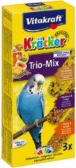 Vitakraft Trio Mix honing/sesam-ei/graszaad-appel/vijgcräcker parkiet 3-in-1