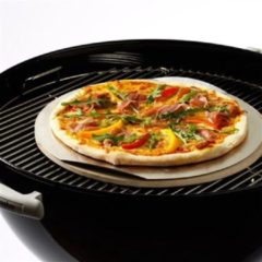 Beige MaxxGarden BBQ pizzasteen - barbecue steen 600 graden - ⌀33