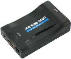 Zwarte Coretek HDMI naar Scart converter - voeding via USB